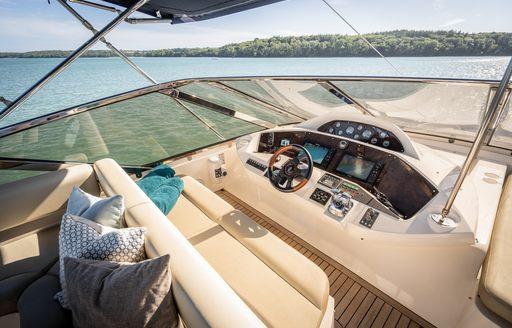 sundeck cockpit on luxury yacht chess