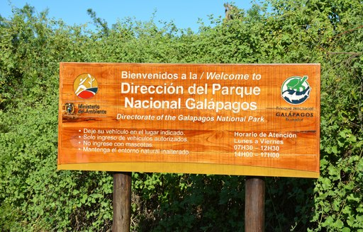 Sign for the Galapagos National Park