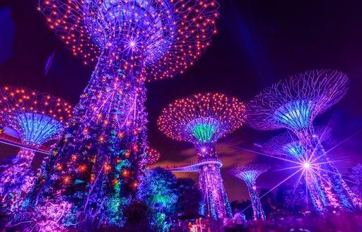 Singapore lights at marina bay