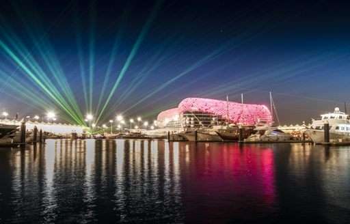 Yas Marina lights up on the last night of the Abu Dhabi Grand Prix