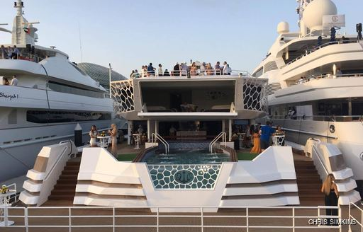 charter yacht hosts a party at the Abu Dhabi Grand Prix 2016