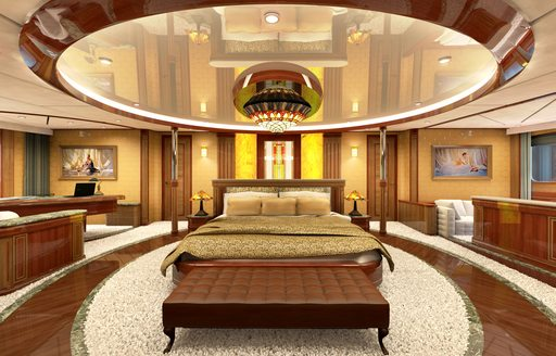 spacious main salon on board expedition yacht LEGEND