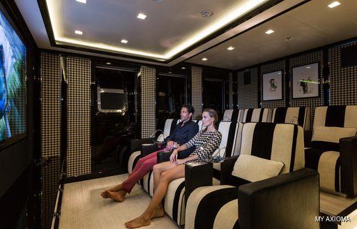 Cinema room onboard MY Axioma