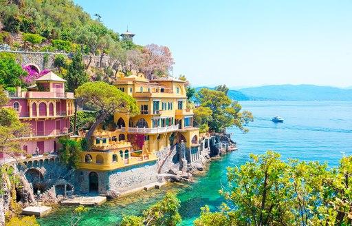 Ideal yacht charter destination of Portofino, overlooking the sea