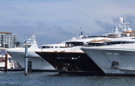 FLIBS 2018 boats lined up