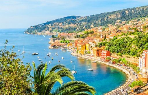Aerial view of Villefranche-sur-mer