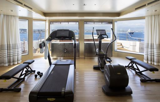 Gym onboard MY Madsummer