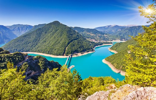 pine-covered hills and azure waters of Croatia's idyllic coastline