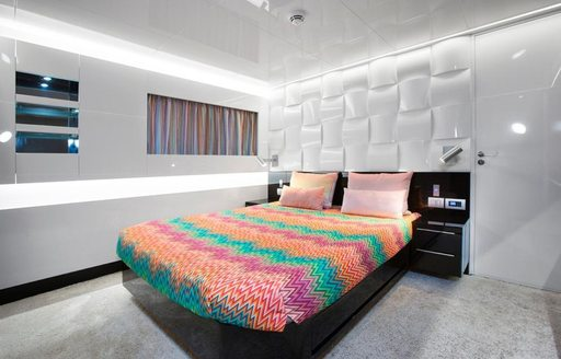 A guest suite used on a charter vacation on board TORTOISE