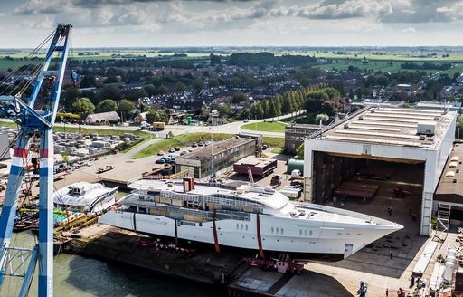 Feadship superyacht Project Galina, formerly Feadship 819, now ready for outfitting photo 3