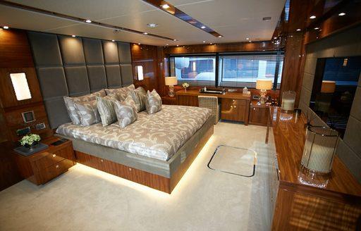 Master suite on board luxury superyacht