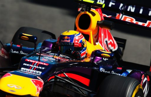 Red Bull driver in action at the Monaco Grand Prix