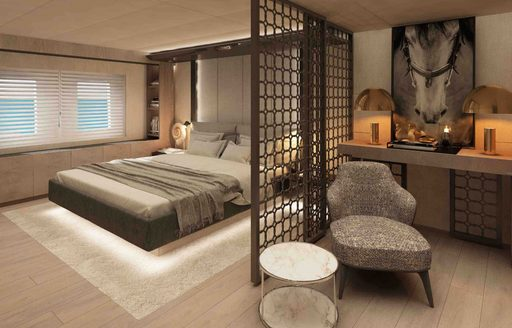 cabin aboard luxury yacht All About You