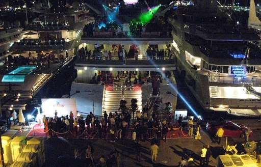 yachts fills with VIP guests at the Monaco Grand Prix