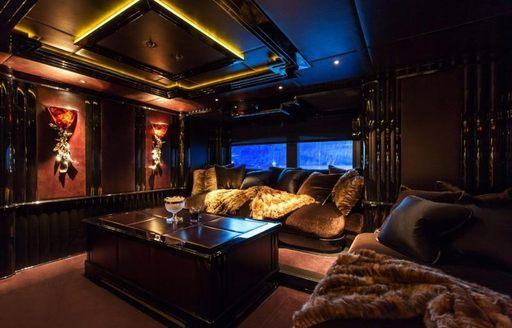 The art deco inspired interior of superyacht LIONESS V