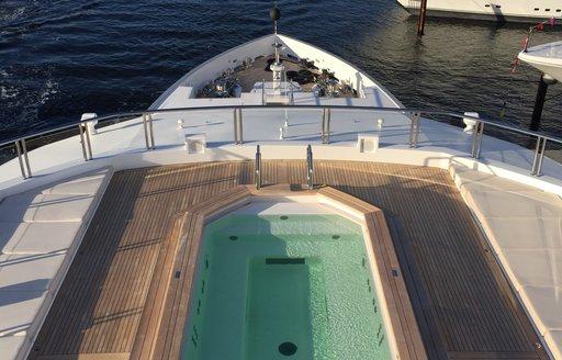 swimming pool on board superyacht CLOUDBREAK taken at FLIBS 2017