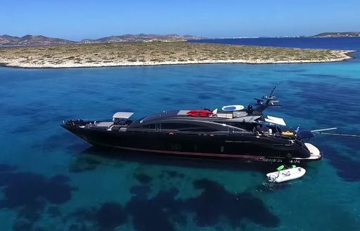 Superyacht and tenders in Greece