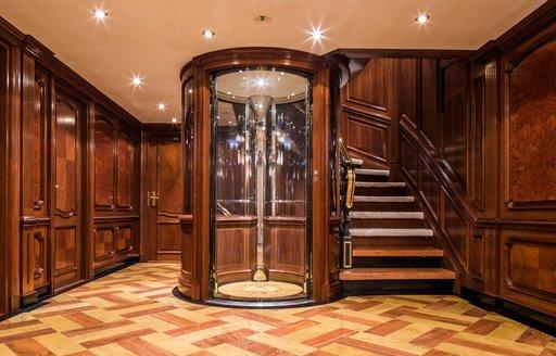Elevator onboard MY Titania