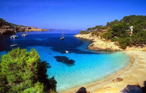 white sands and turquoise waters of Cola Xuclar in Ibiza