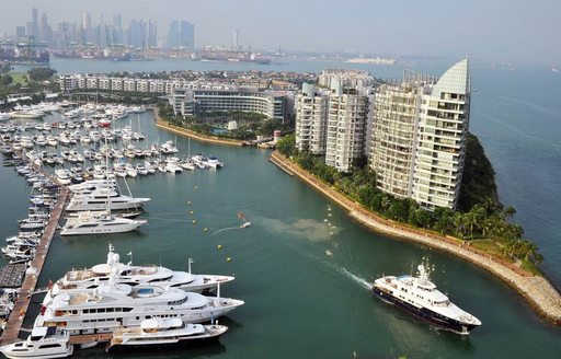 Superyachts on display at the 2014 Singapore Yacht Show