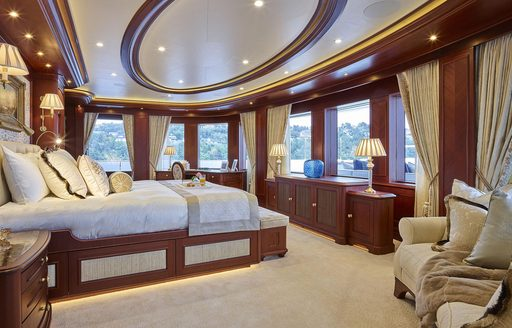Owne's suite aboard superyacht ARETI