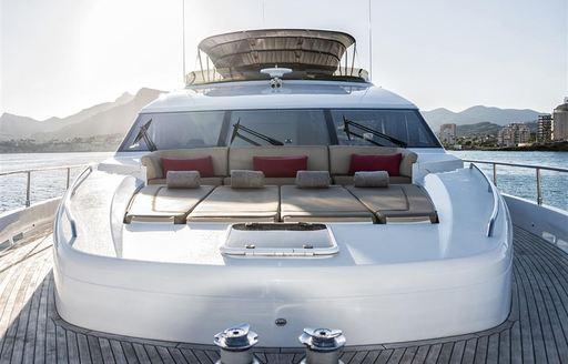 insieme motor yacht lounging areas