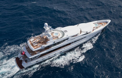 Aerial view of Oceanco's FRIENDSHIP yacht