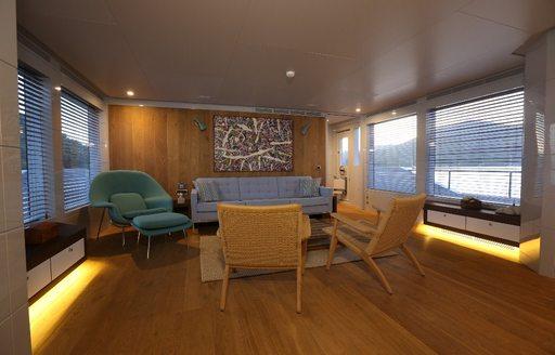 main salon area on superyacht only now