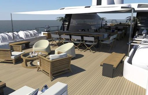 The exterior of superyacht VICKY