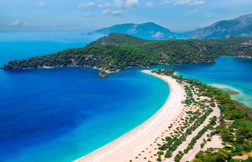 Scenic view over Turkey beaches