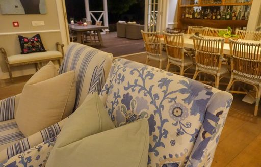 seating area in family room of  thanda private island