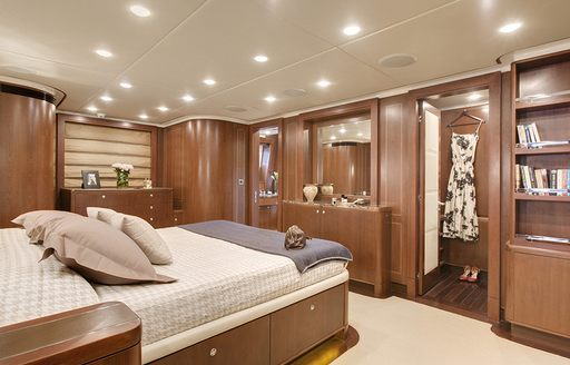 sophisticated master suite on board superyacht Masteka 2