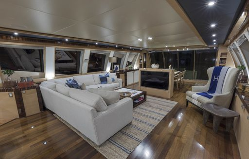 The classic interior styling of superyacht BW