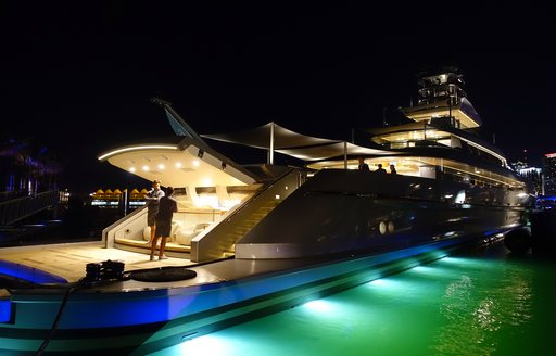 superyacht at miami yacht show 2019