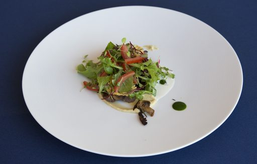 3rd placed dish at the 2017 Newport Charter Show from chef Daniele Messina of superyacht Frisky Lady