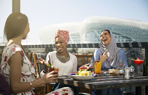 Guests at restaurant in Abu Dhabi