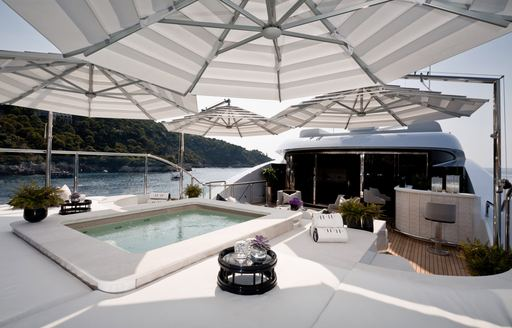 Aft deck pool on charter yacht 11/11