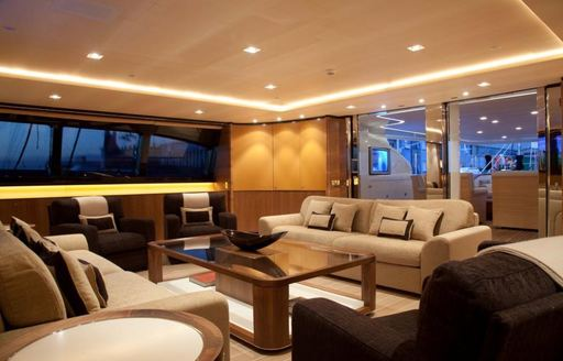 Lounge area on board FIDELIS