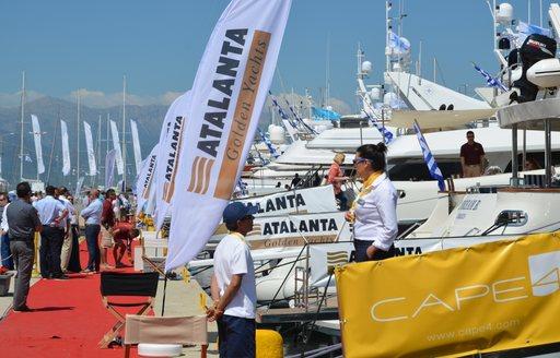 Charter Yachts at GYA show in Greece