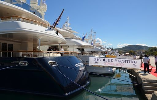 Big Blue Yachting banner at MEDYS 2014