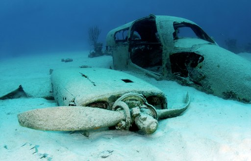 Wreck dive site in the Abacos