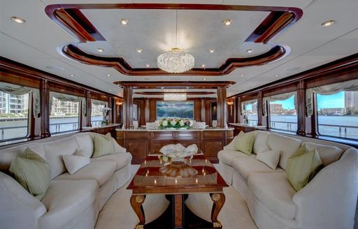 main salon onboard yacht aquasiiton