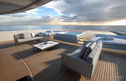 Master suite private terrace on MY Cloud 9
