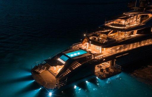 underwater lighting at night