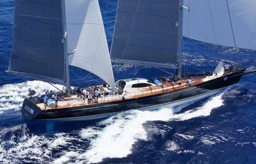 charter yacht SOJANA underway on a luxury yacht charter