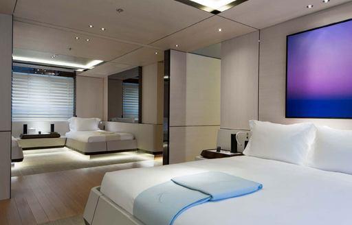 Double cabin onboard MY Kamalaya