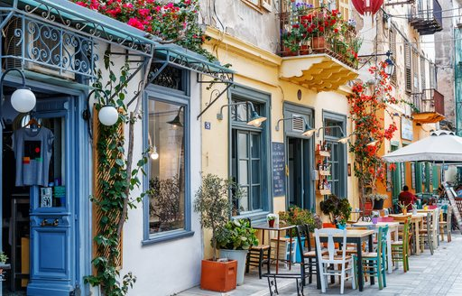 Restaurant in the streets of Greece
