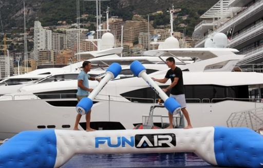 FunAir launch new inflatable water toy Yacht Joust at the Monaco Yacht Show