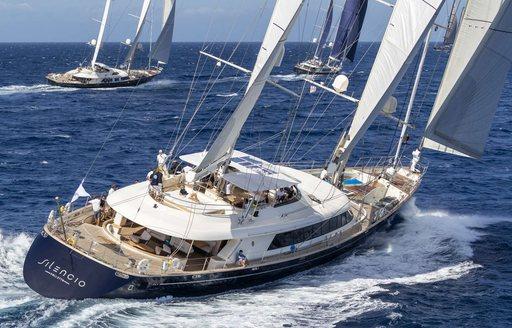 sailing yacht SILENCIO sailing to victory at the Perini Navi Cup 2018 in Porto Cervo