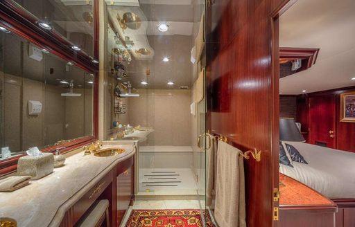 main en suite on luxury yacht blackwood